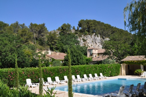 view swimming pool - Moulin de la Roque